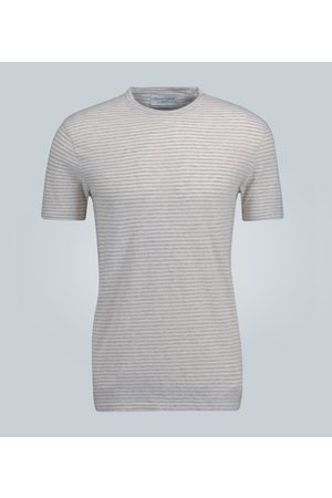 OFFICINE GENERALE Gestreiftes T-Shirt aus Baumwolle