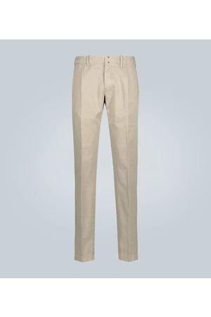 Incotex Hose aus Baumwolle und Leinen