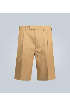 Prada Falten-Shorts aus Baumwolltwill
