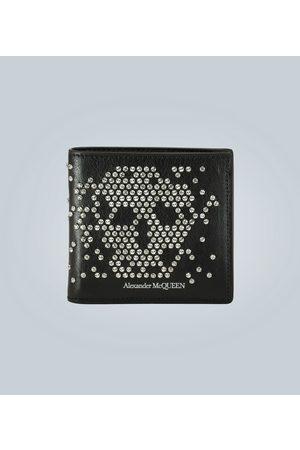 Alexander McQueen Leder-Portemonnaie Studded Skull