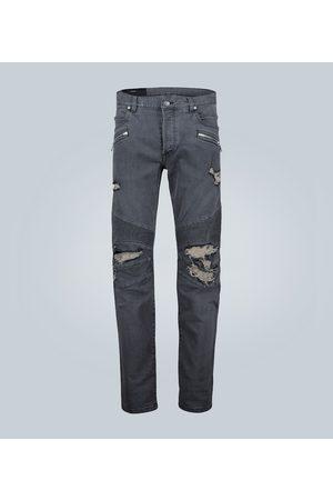 Balmain Skinny Jeans in Distressed-Optik