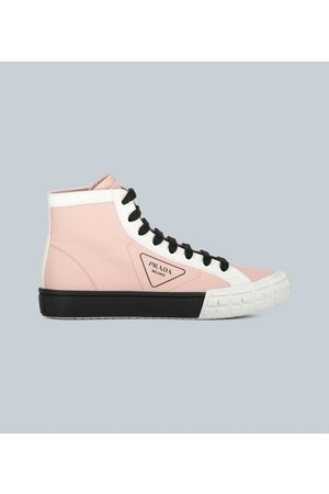 Prada Gabardine High-Top-Sneakers