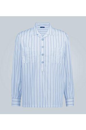 THE GIGI Streifenhemd mit halber Knopfleiste