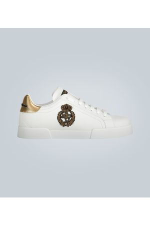 Dolce & Gabbana Leder-Sneakers mit Logo