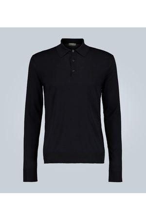 Bottega Veneta Langarm-Polohemd aus Wolle