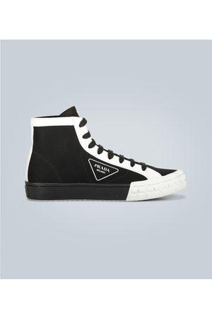 Prada High-Top-Sneakers mit Einsätzen