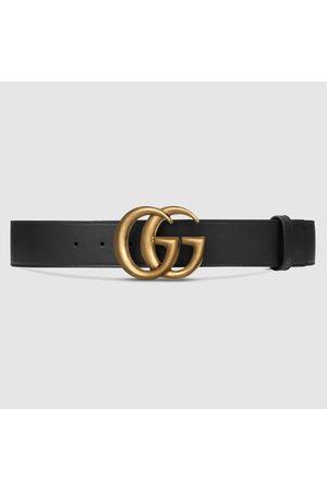 Gucci Damen Gürtel - Gürtel aus Leder mit Doppel G Schnalle