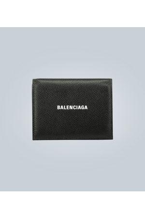 Balenciaga Logo-Portemonnaie aus Leder