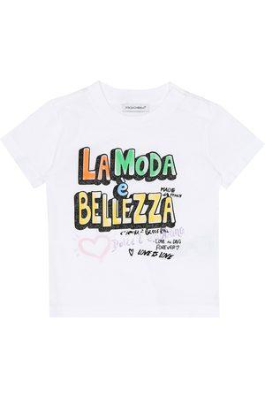 Dolce & Gabbana Baby bedrucktes T-Shirt aus Baumwolle