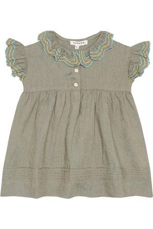 Caramel Baby Kleid Sloane Square aus Leinen