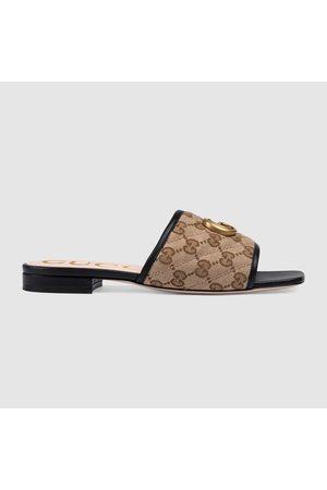 Gucci Damen Clogs & Pantoletten - Damenpantolette aus GG Canvas mit Matelassé-Leder
