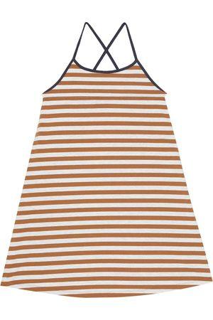 Caramel Gestreiftes Kleid Tooting