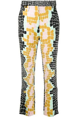Roberto Cavalli Colour-block tailored trousers