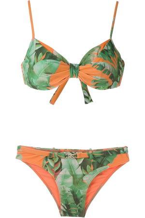 AMIR SLAMA Damen Bikinis - Mata Atlântica print bikini set