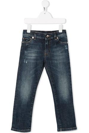 Dolce & Gabbana Kids Slim faded jeans