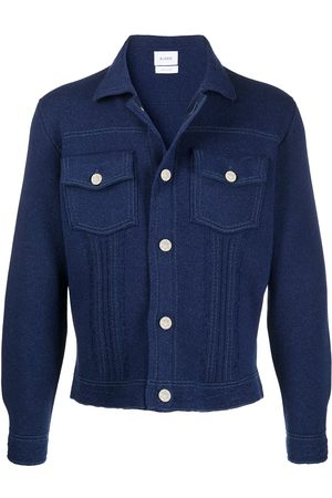 Barrie Fitted denim-look jacket