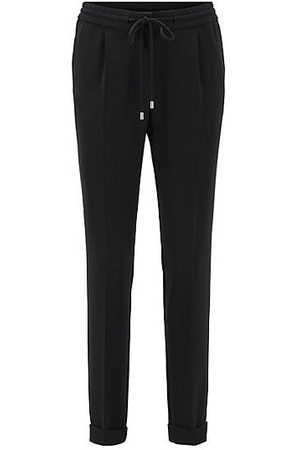HUGO BOSS Relaxed-Fit Hose aus Stretch-Krepp in Cropped-Länge