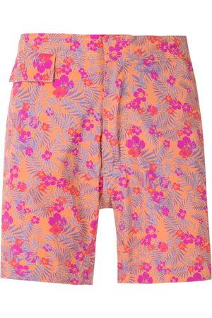AMIR SLAMA Herren Badehosen - Floral tactel swim shorts