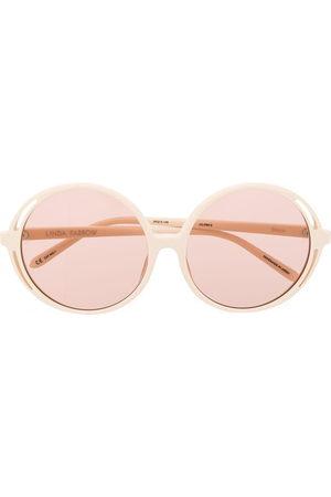 Linda Farrow Damen Sonnenbrillen - Bianca round frame sunglasses