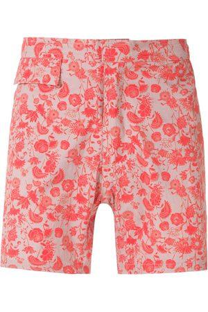 AMIR SLAMA Herren Badehosen - Floral tactel shorts