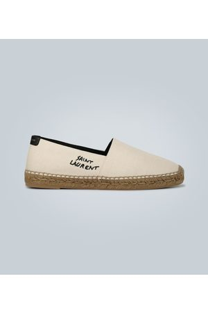 Saint Laurent Bestickte Espadrilles aus Canvas