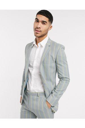 ASOS Herren Blazer & Sakkos - Super skinny suit jacket in ice and yellow bold stripe