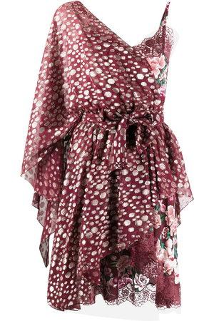 FAITH CONNEXION One shoulder metallic-embellished dress