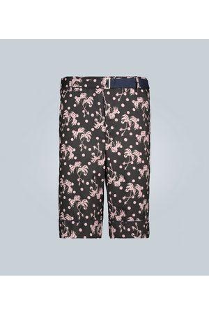 SACAI Bedruckte Bermuda-Shorts mit Gürtel