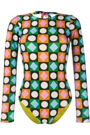La DoubleJ Lucky Charms-print swimsuit
