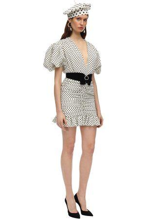 MARIANNA SENCHINA Printed Crepe Mini Dress