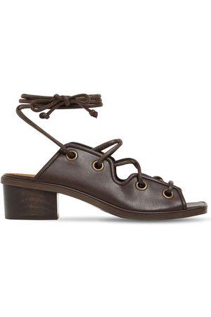 Stella McCartney Damen Schnürschuhe - 40mm Faux Leather Lace-up Sandals