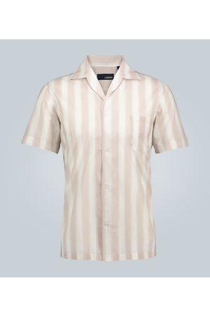 LARDINI Gestreiftes Hemd mit offenem Kragen
