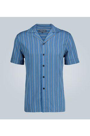 Frescobol Carioca Kurzarmhemd Tencel mit Streifen
