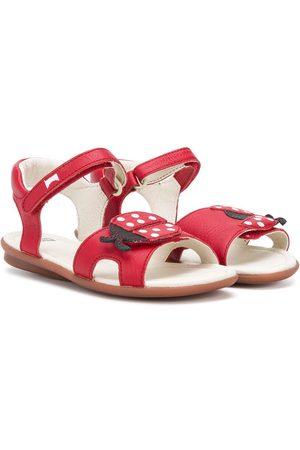 Camper Kids Front ladybug sandals