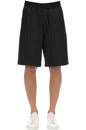 Neil Barrett Herren Shorts - Oversized Shorts Aus Cupro Und Viskose