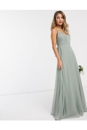 ASOS Bridesmaid cami maxi dress with ruched bodice and tie waist