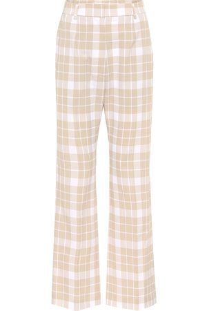 MM6 MAISON MARGIELA Karierte High-Rise-Hose