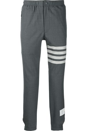 Thom Browne 4-Bar Snap Front Elastic Track Trouser