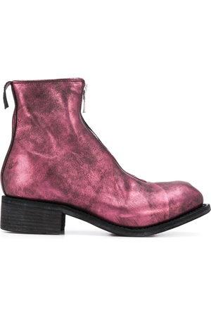 GUIDI Damen Stiefeletten - Metallic ankle boots