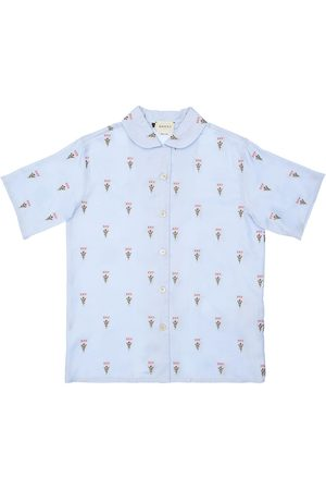 Gucci Embroidered Cotton Oxford Shirt