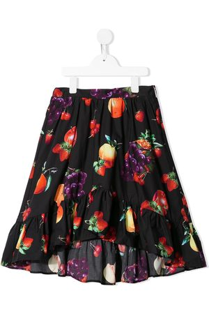 Msgm Fruit-print flared skirt