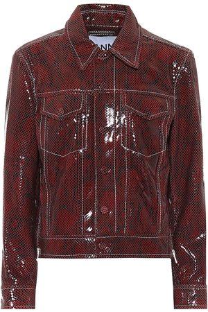 Ganni Jacke aus Leder