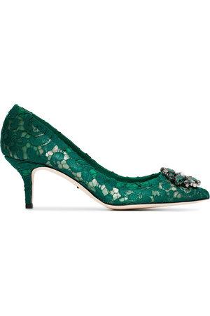 Dolce & Gabbana Bellucci 60 lace crystal pumps
