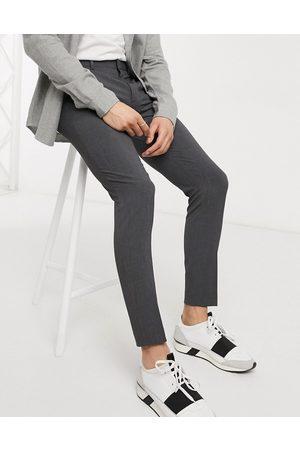 ASOS Herren Chinos - Super skinny smart trousers in charcoal