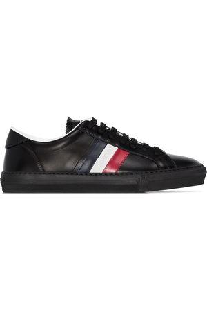 Moncler New monaco tri-colour stripe leather sneakers