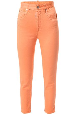Dsquared2 Damen High Waisted - High-waisted skinny cropped jeans