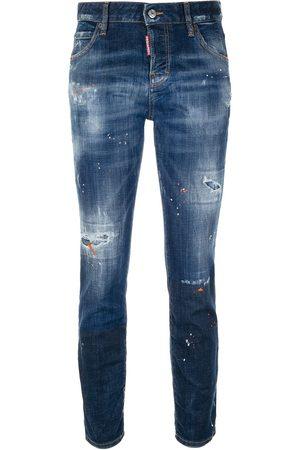 Dsquared2 Damen Straight - Distressed straight-leg jeans