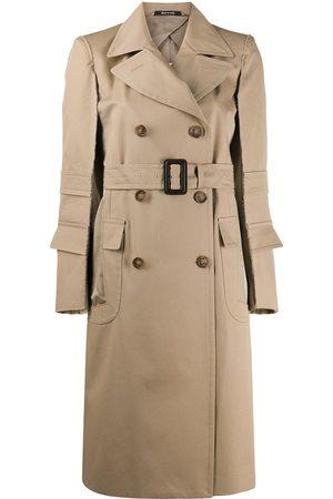Maison Margiela Raw trim belted trench coat