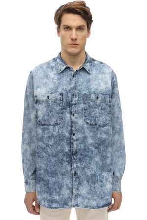Isabel Marant Oversize Bleached Cotton Denim Shirt