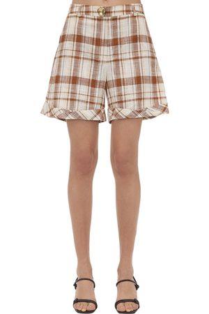 REJINA PYO Oscar Cotton & Linen Shorts